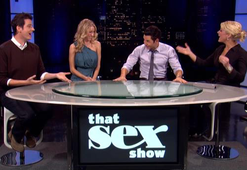 """That Sex Show"" on Logo TV, premiering on February 4th at 10:30pm PST (check your local listings)."