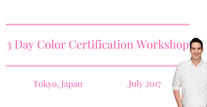 Tokyo 3 Day Color Certification Workshop July 2017